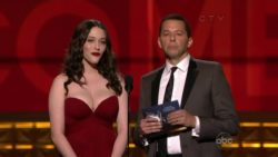 Kat Dennings presenting the shit out of an award