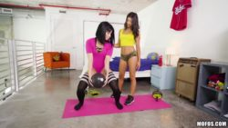 Workout Leads to Lesbian Sex with Rina Ellis & Veronica Rodriguez