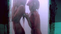 Abbey Lee Kershaw and Bella Heathcote showering in some Hawaiian Punch juice