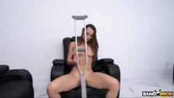 Aidra Fox improperly uses crutches