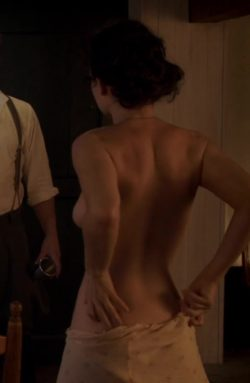 Lily James' ass in The Exception