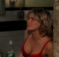 Kristy Swanson red bra plot in Big Daddy (1999)