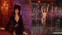 Cassandra Peterson as Elvira and topless in The Working Girls