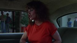 Moriah Shannon with a couple of big plots in D.C Cab (1983)