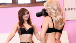 Photoshoot ends in tearing up with Sara Luxx & Britany Foster