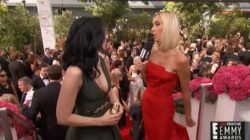Sarah Silverman on the Emmy red carpet