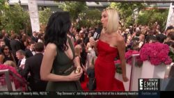 Sarah Silverman and Giuliana Rancic pre-Emmy red carpet plot