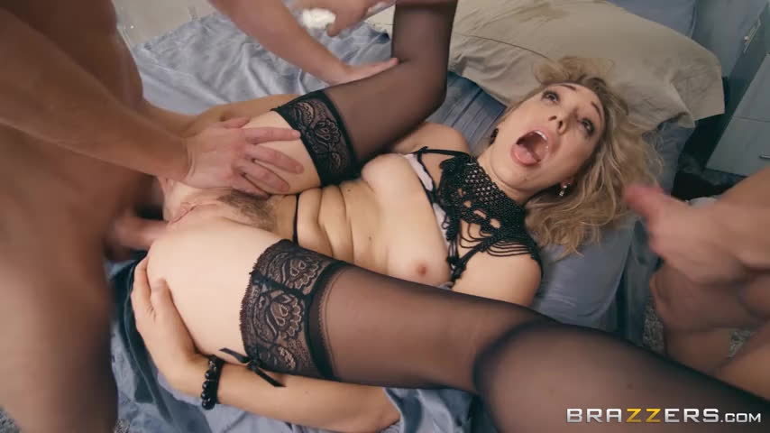 Facial while getting fucked in the ass