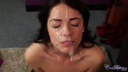 "Ava Dalush on her knees benefiting from the moisturizing effects of her double facial - ""I love it"""