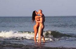 Franceska banged on the beach