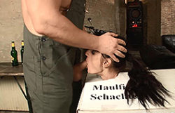 German damsel loves restrain bondage and oral act