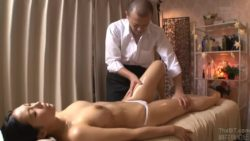 Sakura Nene - Getting fucked on the massage table next to her husband