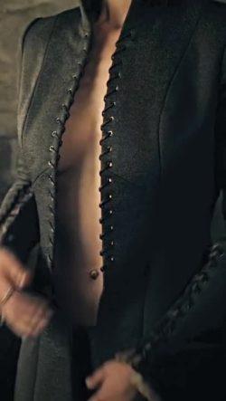 Nathalie Emmanuel undressing in Game of Thrones (BRIGHTENED