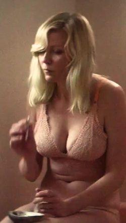 Kirsten Dunst smoking a Joint in her undies (Woodshock)