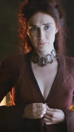 Carice van Houten disrobing in Game of Thrones (BRIGHTENED