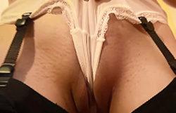 Thin inexperienced displaying her underwear