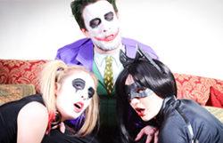 Joker nailing Harley Quinn and Catwoman