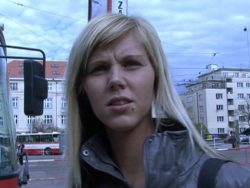 CZECH STREETS – Ilona takes money for public intercourse