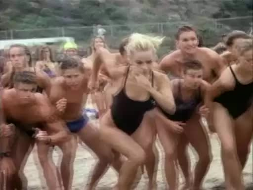 Pamela Anderson's first of a million bounces on Baywatch