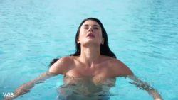 Lucy Li perfect pool posing