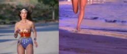 Who ran better: Lynda Carter or Pamela Anderson