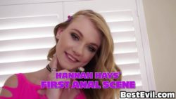 Hannah Hays - First Anal