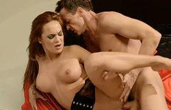 Stunning redhead pornstar penetrated firm