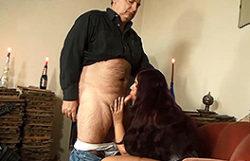 Grand-dad receives a deep throat