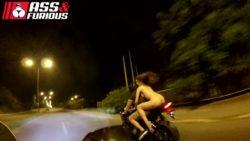 Naked biker babe