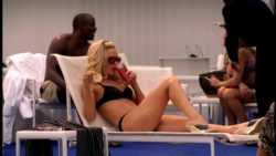 Jennifer Garner in a black bikini in Alias