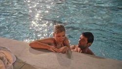 Scarlett Johansson getting out of a pool in Scoop (2006)