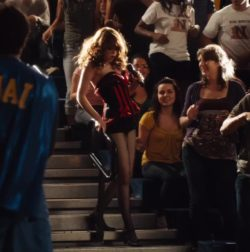 Emma Stone strutting her stuff in Easy A (2010)