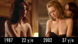 Diane Lane - 1987 (The Big Town) vs 2002 (Unfaithful) - Nude Comparison