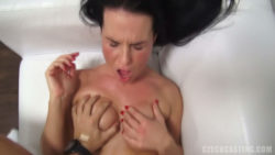 Novice Brunette Sucking Cock like a PRO