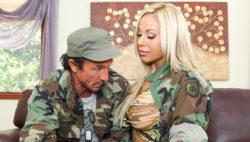 Military fellow Tommy Gunn nails his killer officer Olivia Austin