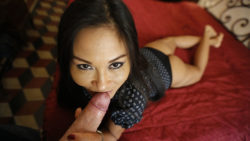 Attractive Asian Milf sucks dick and fucks wildly on first date