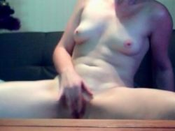 Timid dame next door shows her hairless vagina on webcam
