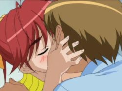 Beauty anime vixen giving a kiss her sexy bf and getting taut poon group-fucked unfathomable