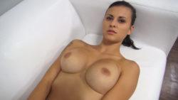 Surprising Large Titties Brunette PornJob Interview