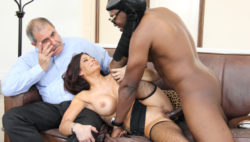 Hawt dark brown mother I'd like to fuck cuckolds hubby with massive dark fuck-stick