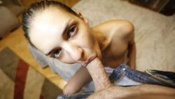 Russian babe Alina Henessy so sexy she has no panties on for first date