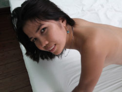 Freaky Filipina slut jumps in bed for sex with male tourist