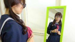 Azusa Misaki in uniform ravaged at school