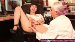 Ladies Out West – Lezzie drizzling at the doctor's office