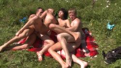 Scorching sunbathing and fucking