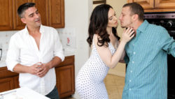 Sarah actually wishes to be double penetration in a 3some with her hubby.