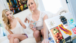 Kate England and Rachel James skip class to make ravishing enjoy