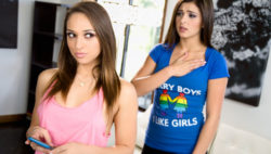 Sara Luvv coaxes Leah Gotti to  have lezzie practice