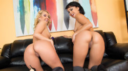 Pornstars Aaliyah Enjoy and Mia Austin LIVE