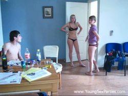 Four horny roommates